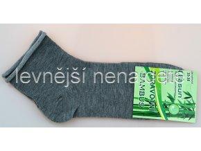 Dámské bambusové zdravotní ponožky šedé