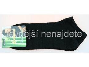 Pánské bambusové kotníkové ponožky černé
