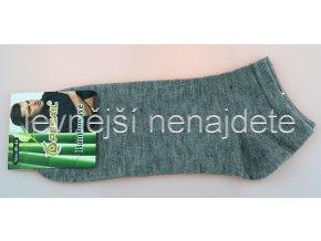 Pánské bambusové kotníkové ponožky šedé