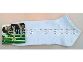 Pánské bambusové kotníkové ponožky bílé