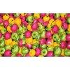 Bavlněná kuchyňská zástěra jablka 42 x 60 cm
