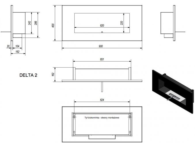 biokrb delta 2 horizontal cerny 3861