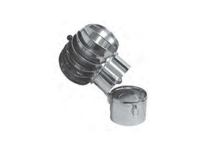 TURBOWENT HLAVICE VYKLÁPĚCÍ - 200MM MAL. HLINÍK/LAK. PLECH