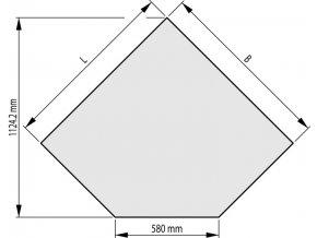 Sklo pod kamna 1000x1000x6 mm 580-45°