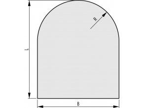 Sklo pod kamna 1000x1000x6 mm R500