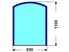 Sklo pod kamna Svarožic úzký 6mm