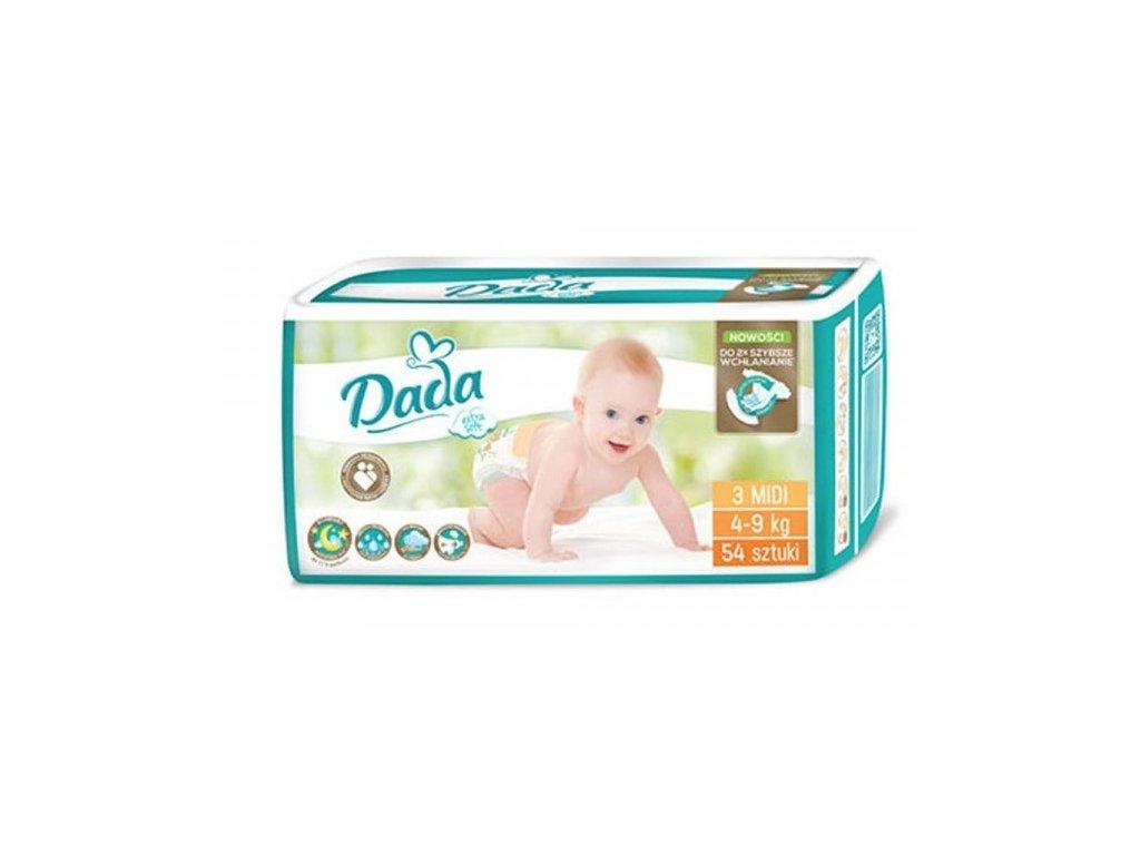 DADA EXTRA SOFT VEL. 3, 4-9 KG, 54 KS  + doprava ZDARMA při objednávce nad 1200 kč + dárek
