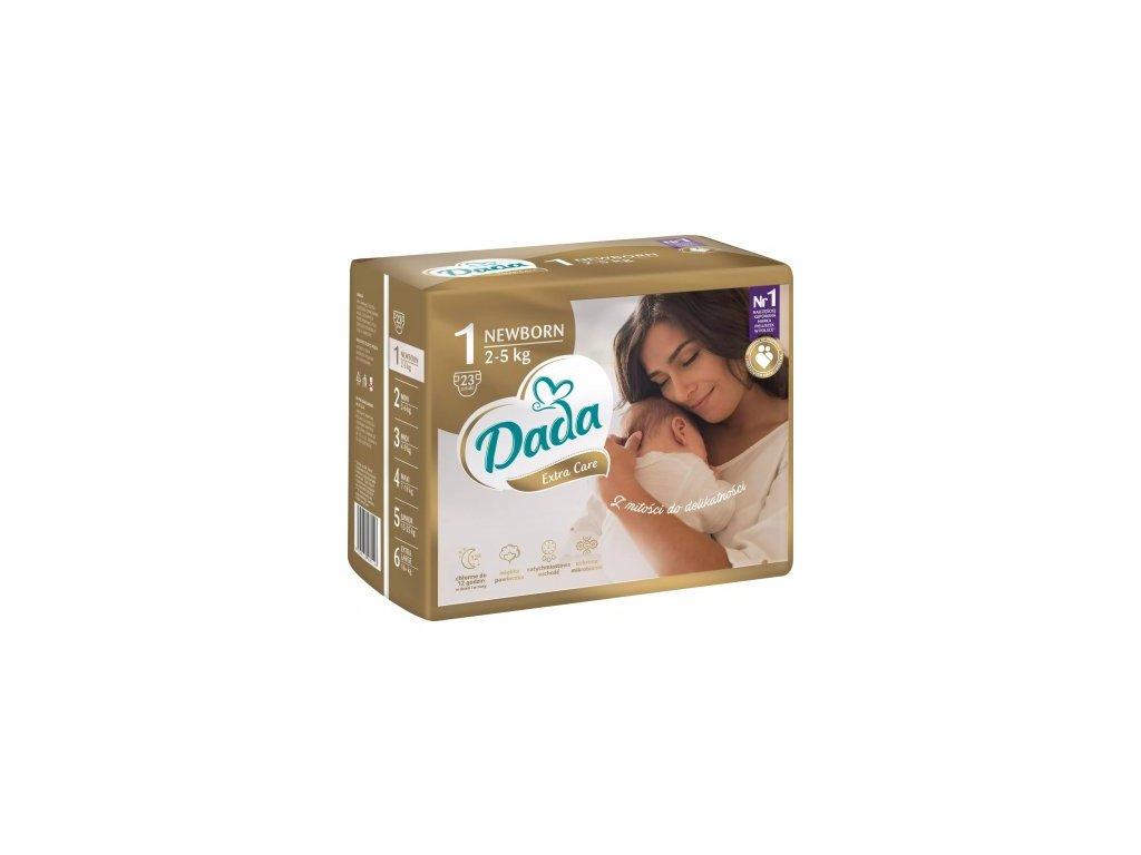 Dada Extra care 1 2-5 kg 23 ks  + při koupi 22 balení Dada Extra care 1 - ZDARMA prací gel Persil 1 l v ceně 110 kč  a ZDARMA DOPRAVA + dárek