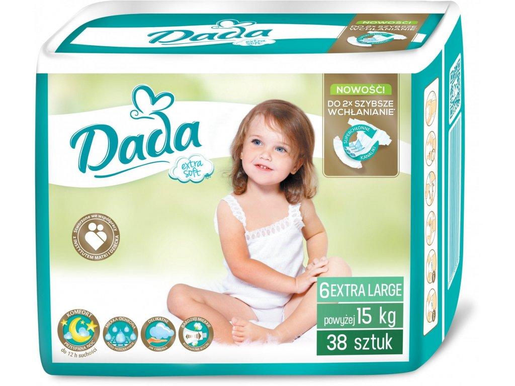 DADA Extra Soft 6 nad 15 kg 38 ks  + doprava ZDARMA při objednávce nad 1200 kč + dárek