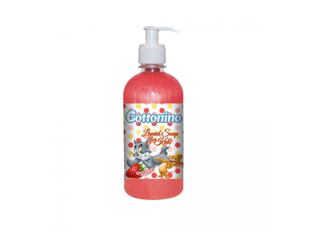 COTTONINO TOM JERRY Liquid Soap Strawberry 500ml 12ks