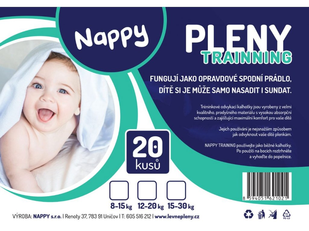 NAPPY Training 8-15 kg 20 ks