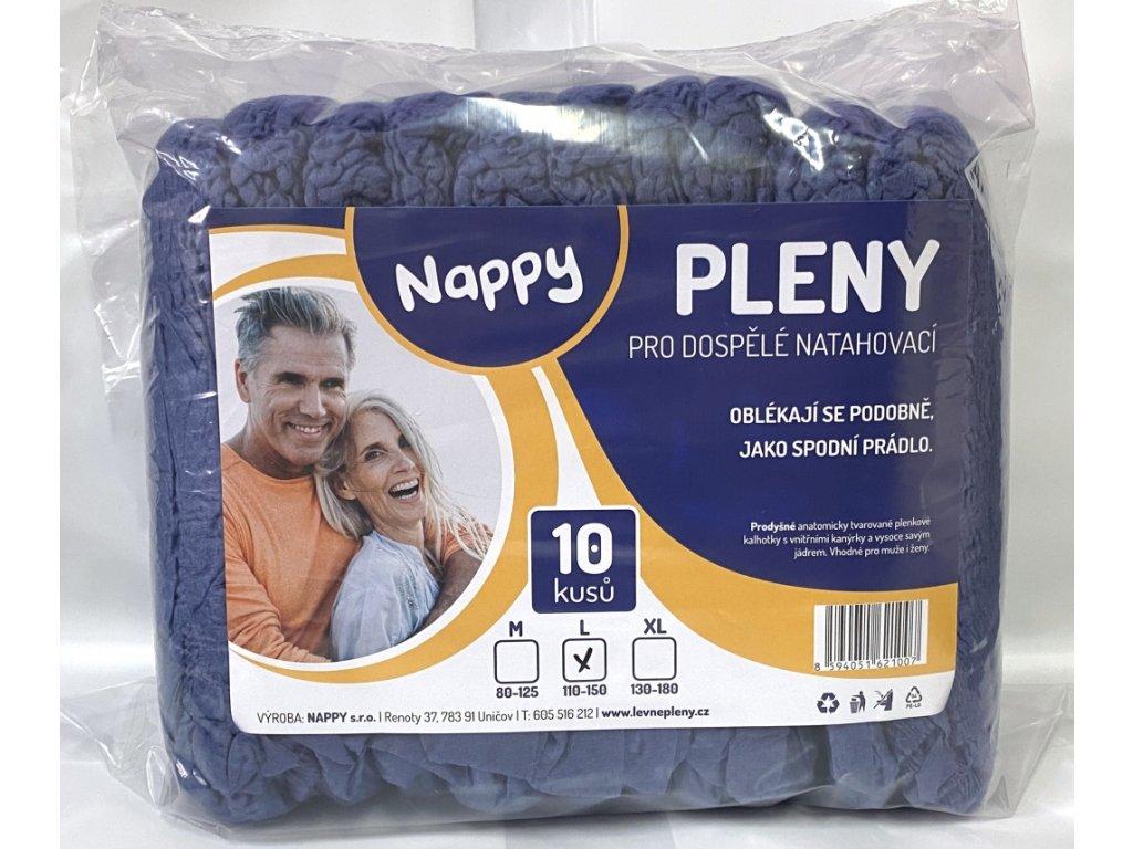 Inkontinenční kalhotky navlékací L 10 ks, modré