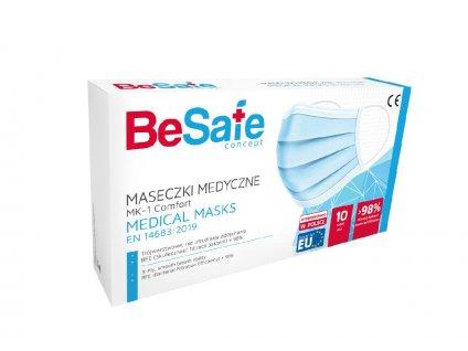 Rouška zdravotnická jednorázová BeSafe EU 10 ks