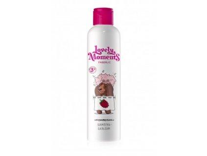 Dětský šampon-balzám na vlasy Malinoví medvídci Lovely moments