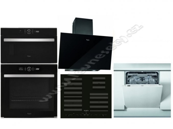Set WHIRLPOOL AKZM 8480 NB + SMC 604 F/NE + AMW 730 NB + AKR 037 G BL + WEIC 3C26 F