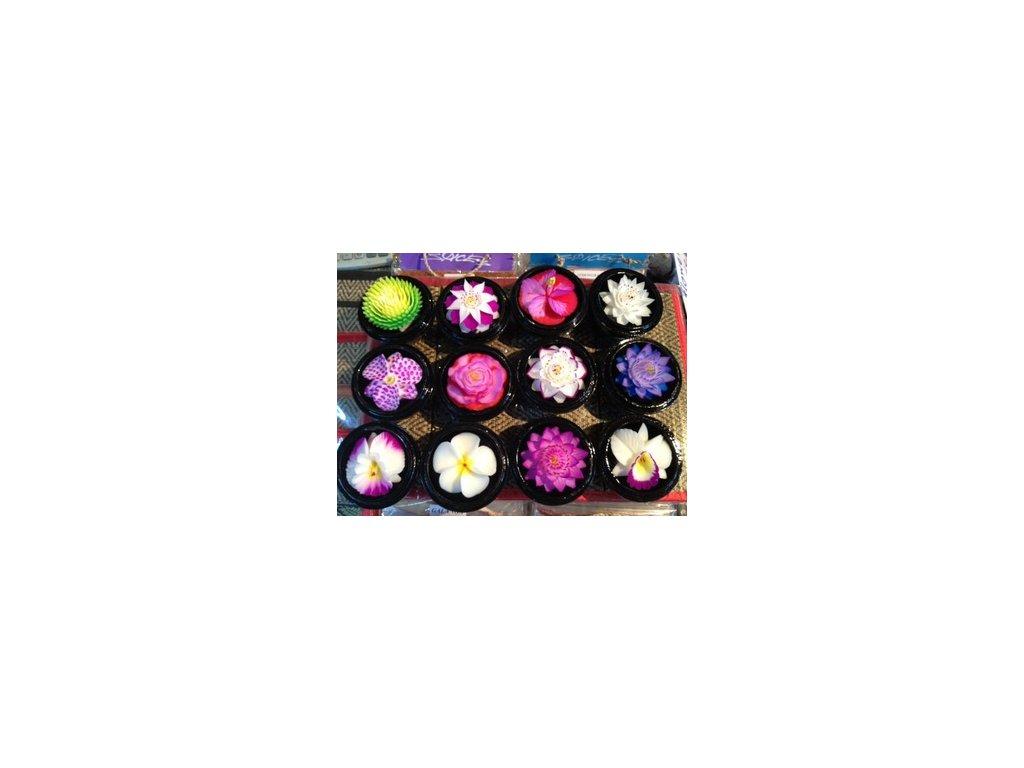 Thajské mýdlo ve tvaru květu