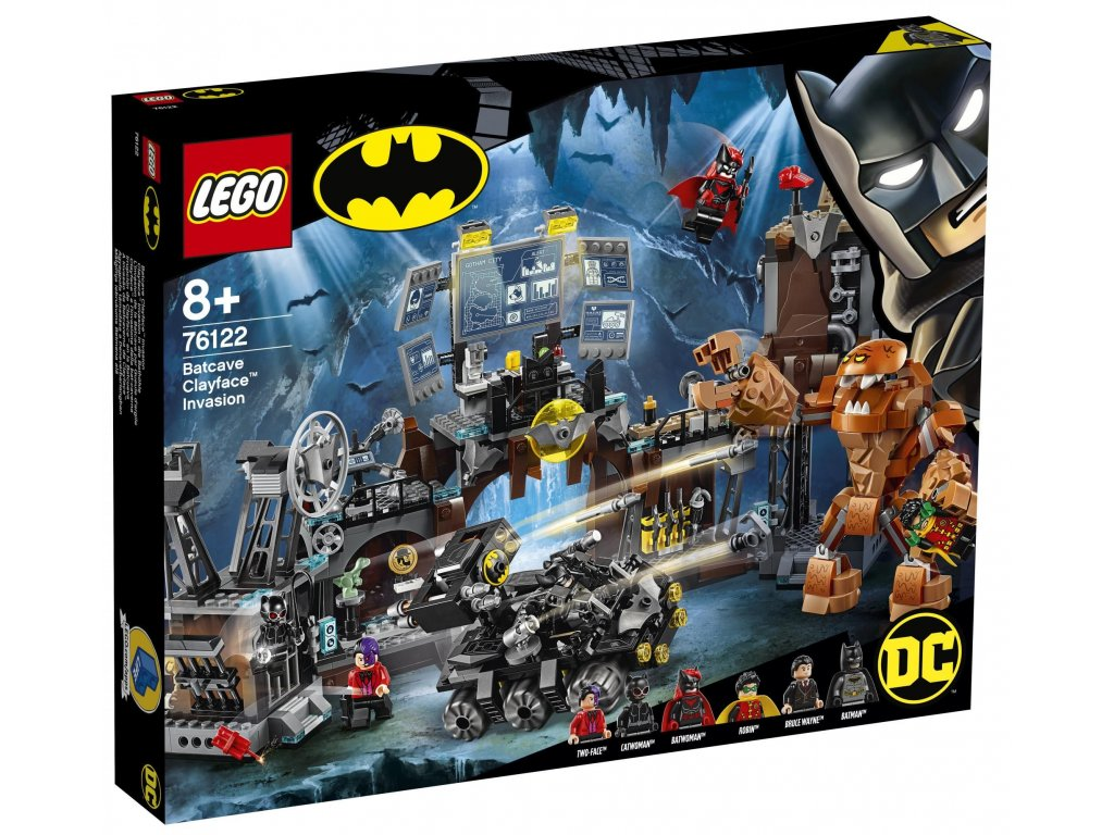 LEGO Super Heroes 76122 Clayface™ útočí na Batmanovu jeskyni