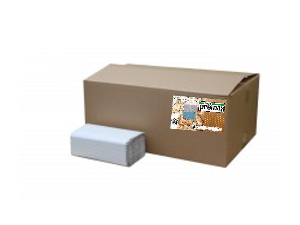 rucniky papirove skladane zz premax 1 vrstve sedy recykl 25 x 23 cm 5000 ks original