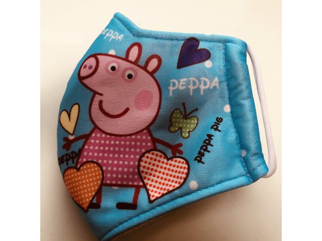 Rouška dětská Prasátko Pepa - PIG