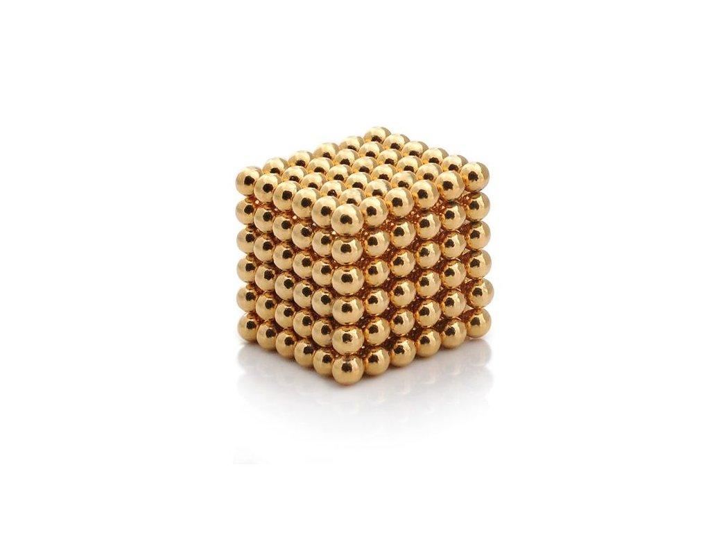 Magnetické kuličky zlaté – magnetická stavebnice, 216 kuliček