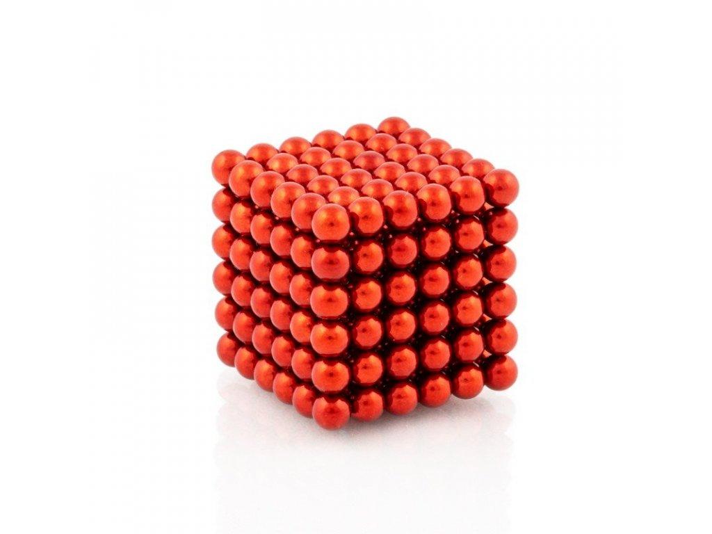 Magnetické kuličky červené – magnetická stavebnice, 216 kuliček