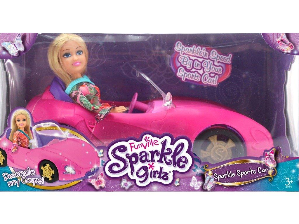 Módní panenka Sparkle Girlz se závodním autem