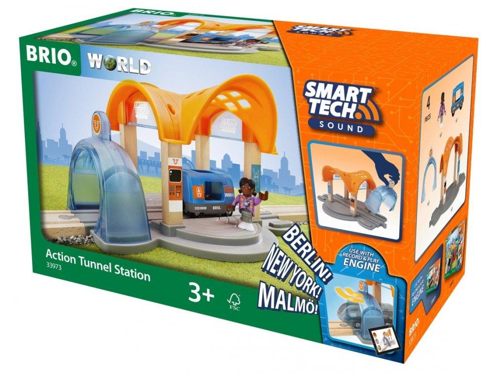 Brio WORLD 33973 SMART TECH SOUND Vlaková stanice s tunelem