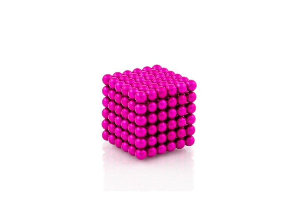 Magnetické kuličky růžové – magnetická stavebnice, 216 kuliček