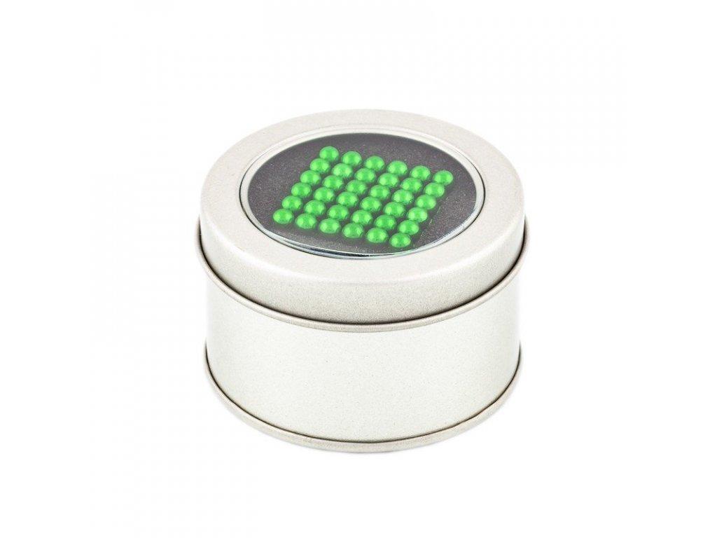 Magnetické kuličky zelené – magnetická stavebnice, 216 kuliček