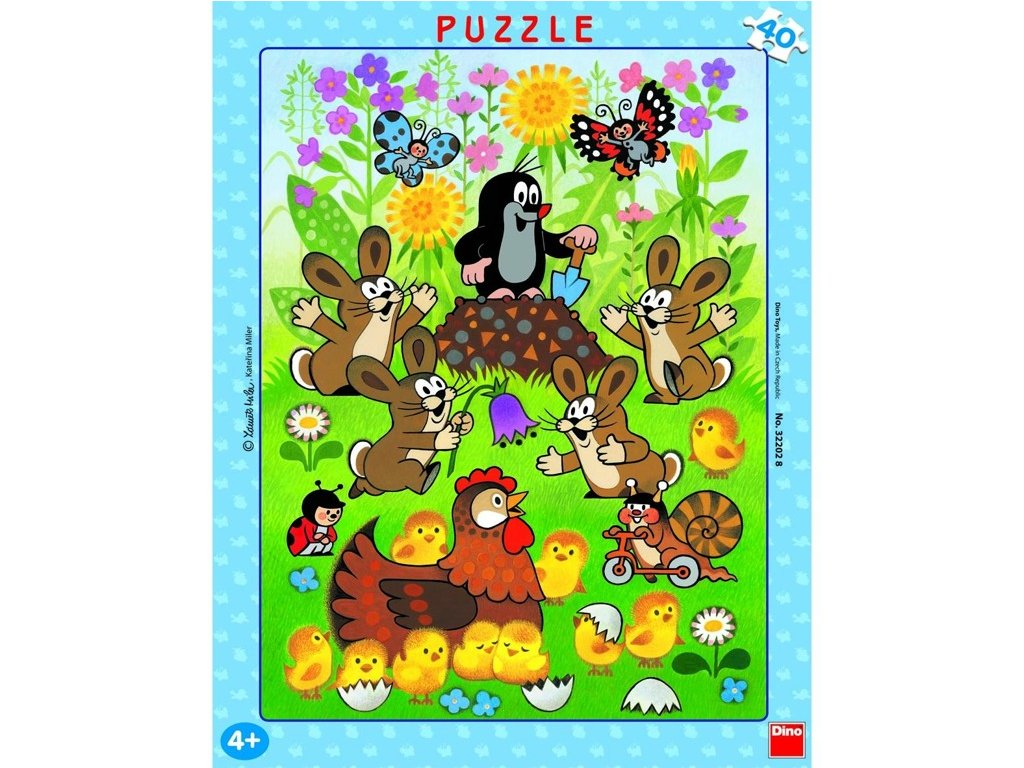 Puzzle Krtek a velikonoce 40 dílků