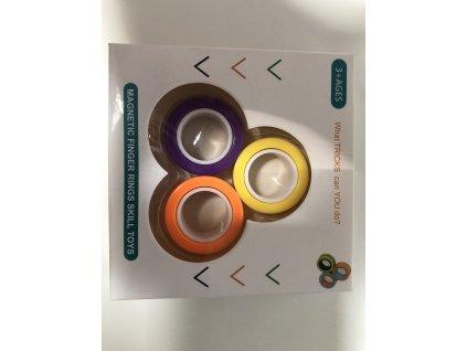Antistresový magnetický spinner prsten kroužek Barevný