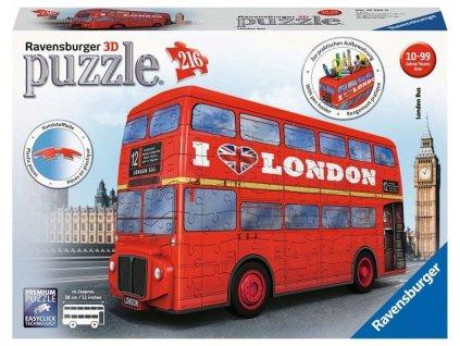 3D puzzle Londýnský autobus Doubledecker 216 dílků
