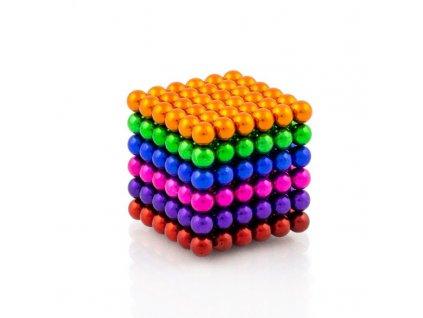 Magnetické kuličky 6 barev – magnetická stavebnice, 216 kuliček