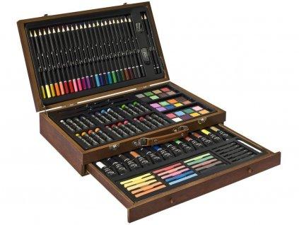 Sada pro malíře v dřevěném kufříku