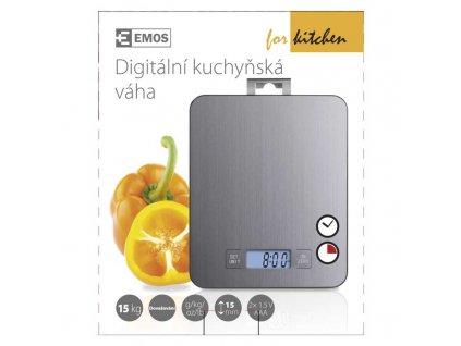 Emos Digitální kuchyňská váha EV023 stříbrná, do 15 kg