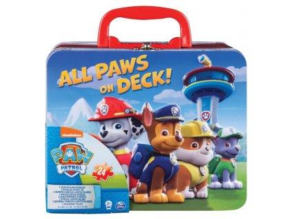 puzzle v plechovem kufriku tlapkova patrola