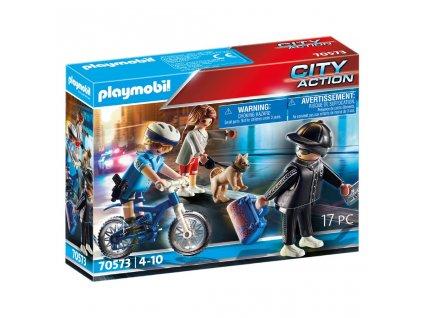 Playmobil City Action 70573 Policejní kolo: Pronásledování kapsáře