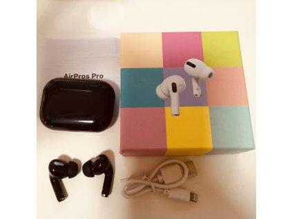 X-Pods PRO bezdrátová sluchátka - černá