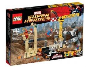 LEGO SUPER HEROES 76037 Superzlosynové RHINO a SANDMAN se spojili