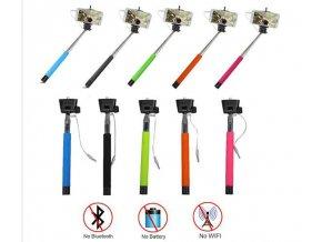 Alltoys Monopod Teleskopická selfie tyč se spouští Z07-5S pro IPHONE telefon červená