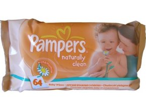 big pampers wipes naturelly clean 64ks