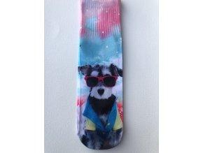 Dámské ponožky s celopotiskem zvířátek, velikost 35-38 Pes