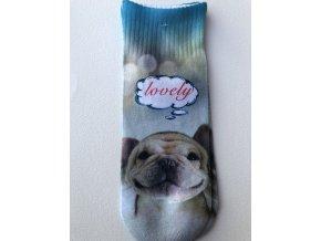 Dětské ponožky s celopotiskem zvířátek, velikost 28-31 Pes