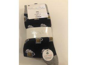 Veselé pánské ponožky s pivem 3 bal MIX Vel. 39-42