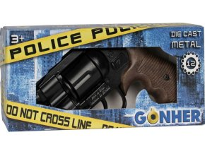 policejni revolver gold colection cerny kovovy 12 ran 34337~max1