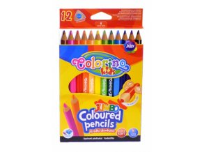 Trojhranné pastelky - Colorino - Jumbo 12 ks