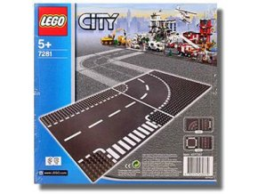 Lego City 7281 Křižovatka T + zatáčka