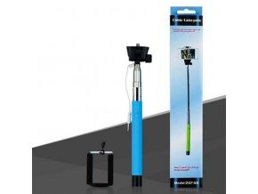 Monopod Teleskopická selfie tyč se spouští Z07-5S pro IPHONE telefon Modrá