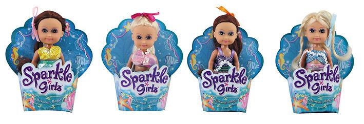 All4toys Mořská panna malá v kornoutku Sparkle Girlz