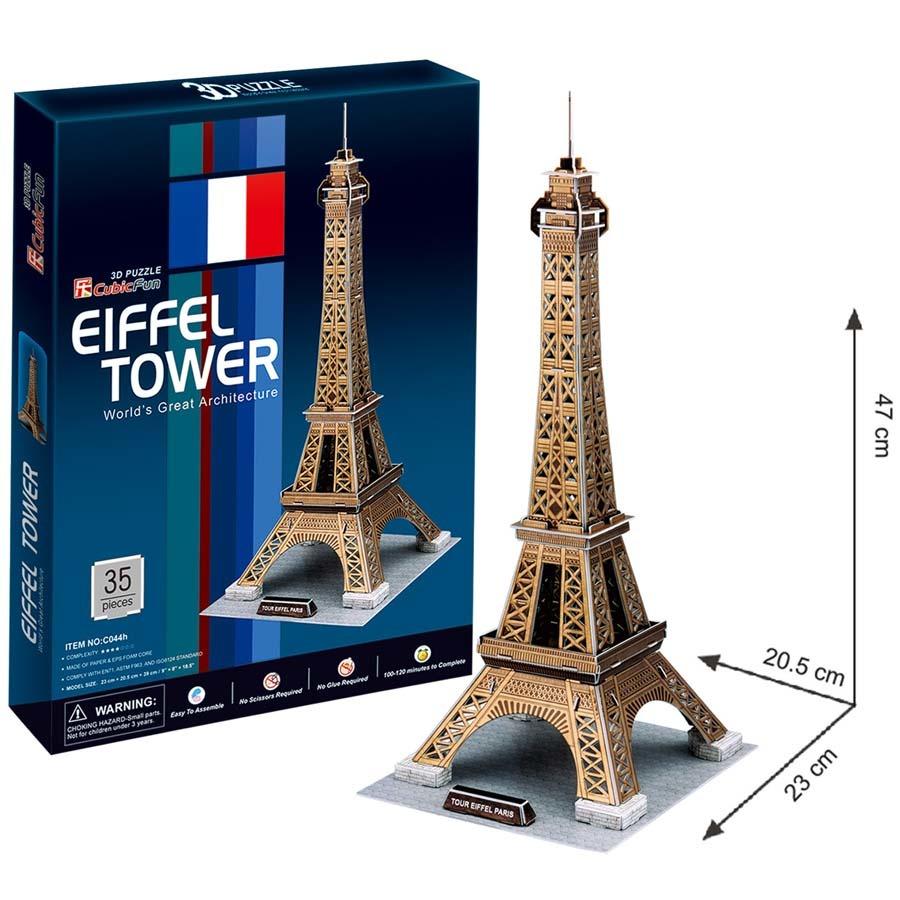 CubicFun Puzzle 3D Eiffelova věž 35 dílků